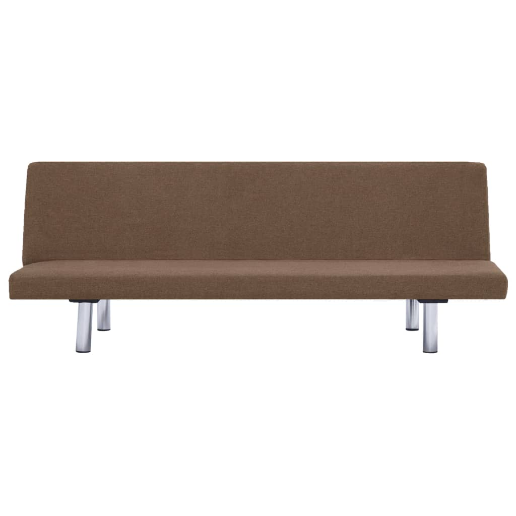 Sofa Bed Brown Polyester 6