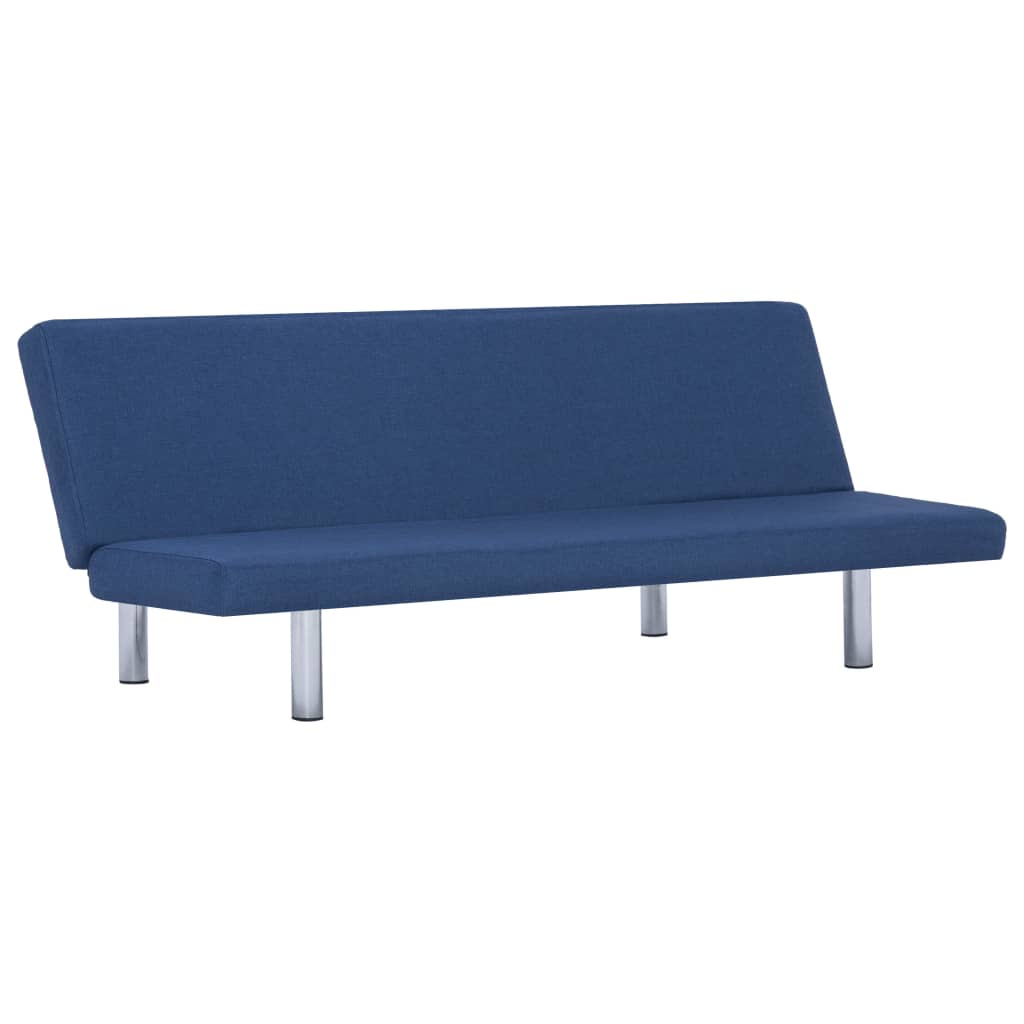 Sofa Bed Blue Polyester 2