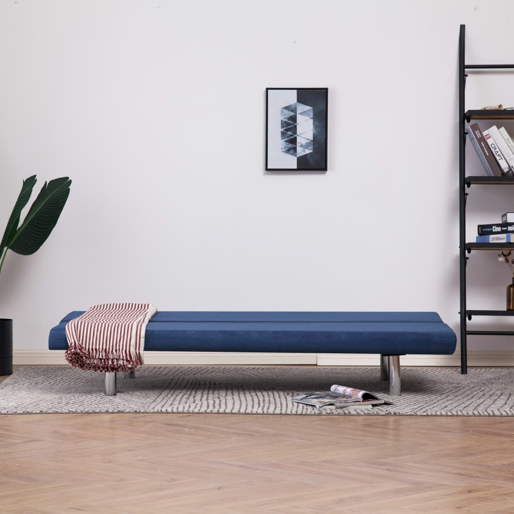Sofa Bed Blue Polyester 3