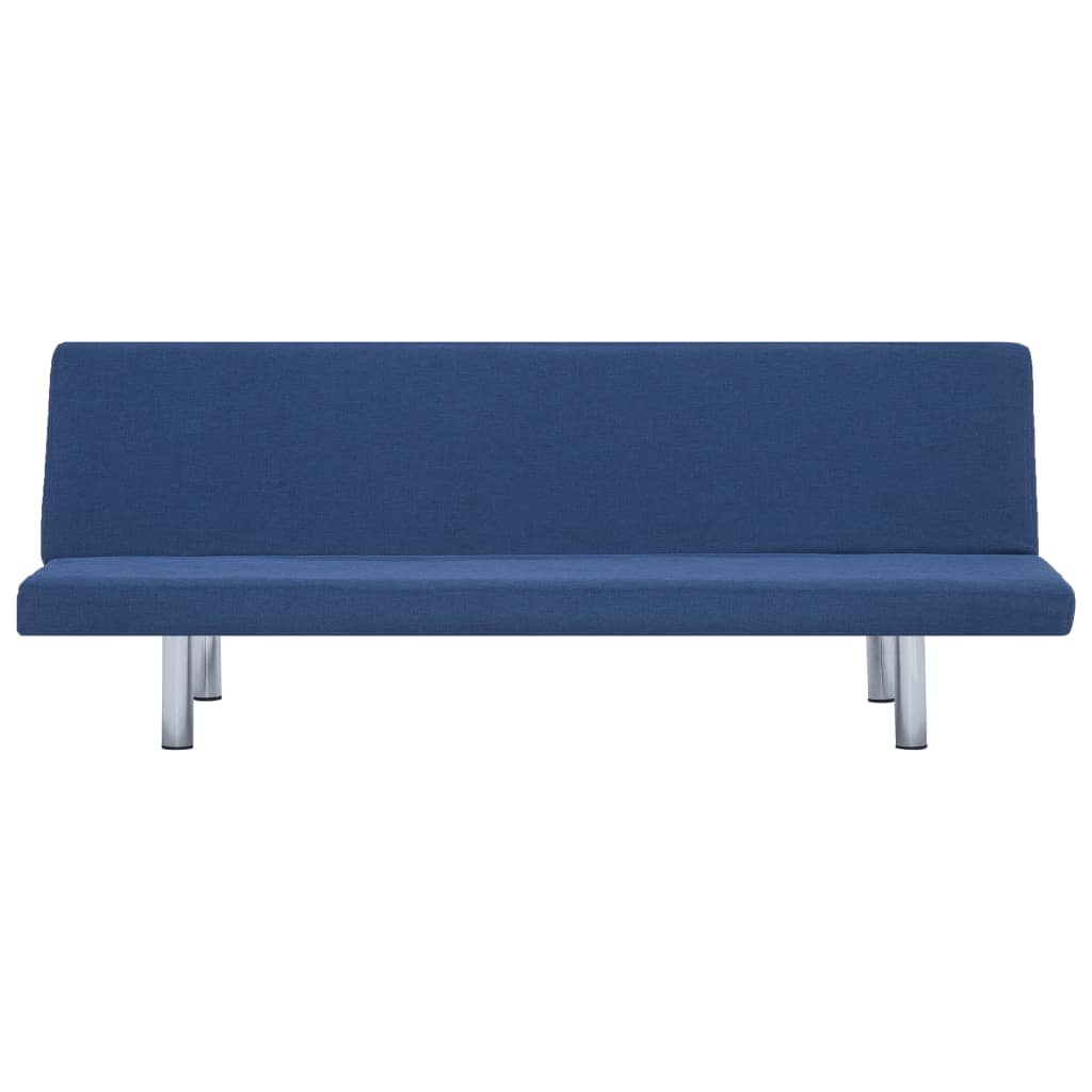 Sofa Bed Blue Polyester 6
