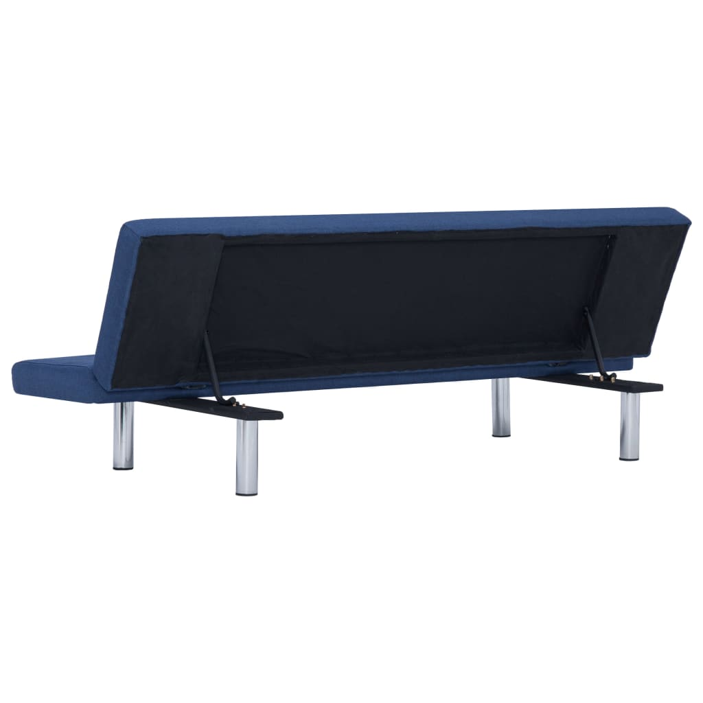 Sofa Bed Blue Polyester 7