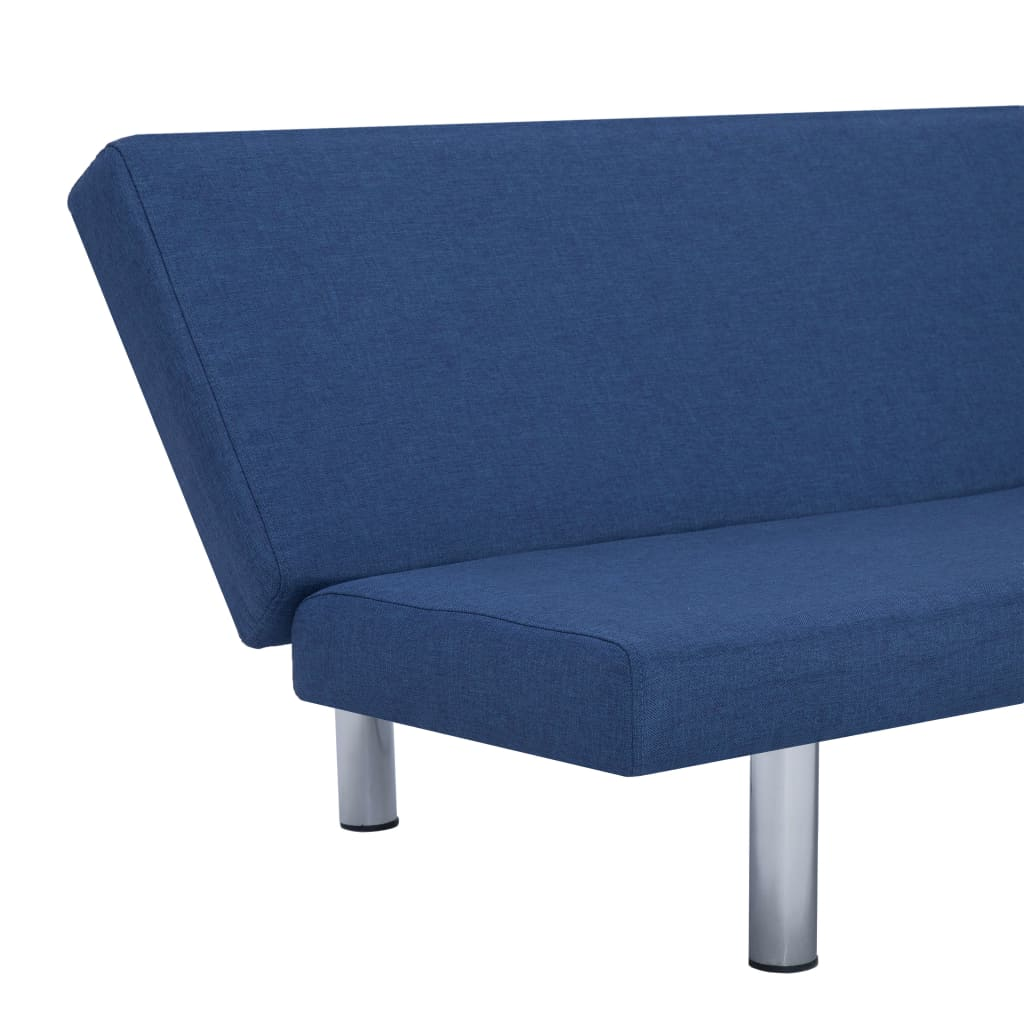 Sofa Bed Blue Polyester 8