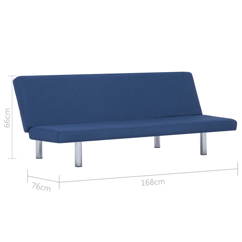 Sofa Bed Blue Polyester 9