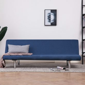 Sofa Bed Blue Polyester