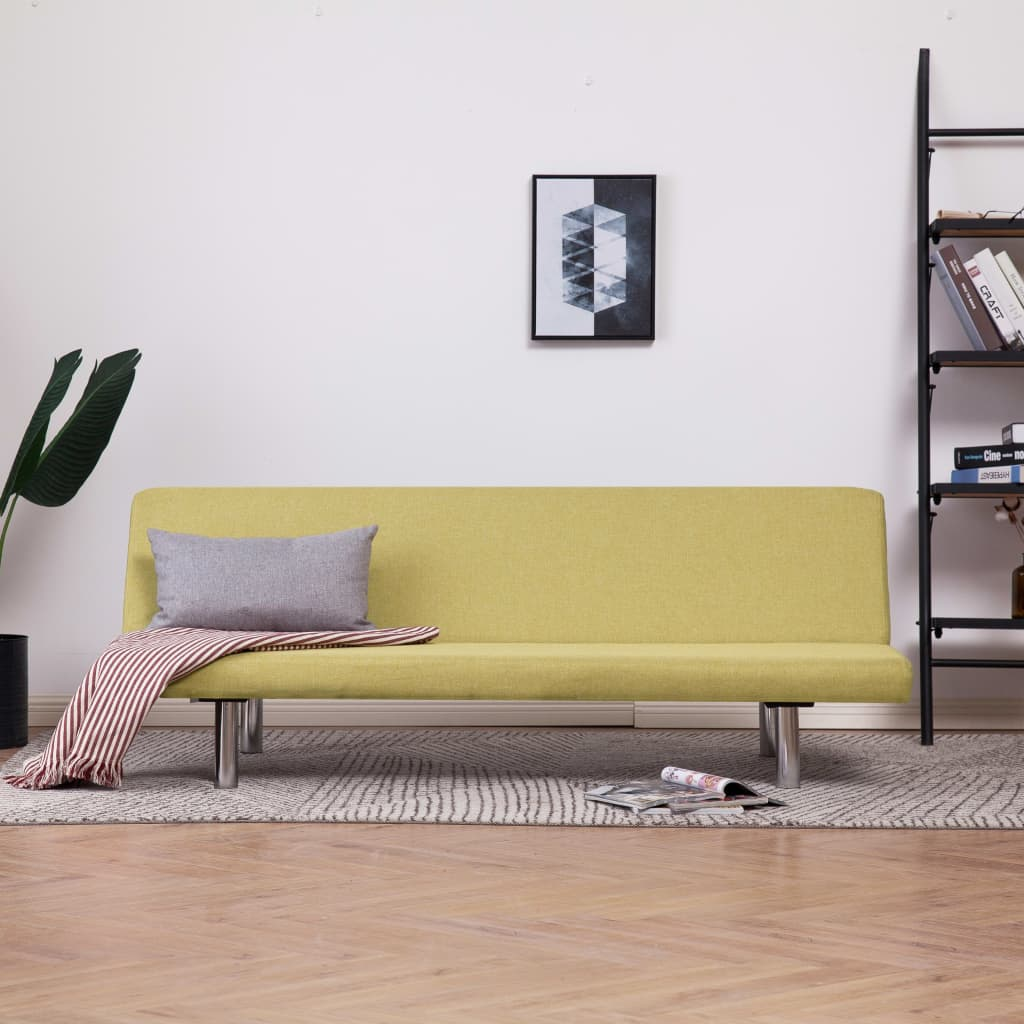Sofa Bed Green Polyester