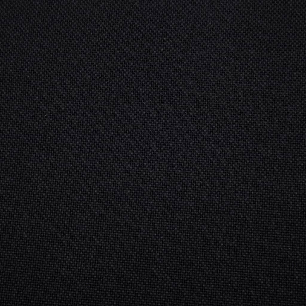 Sofa Bed Black Polyester 4