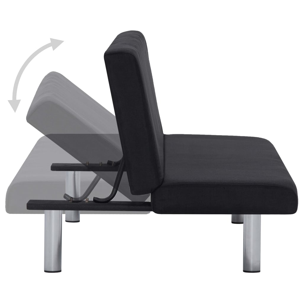 Sofa Bed Black Polyester 5