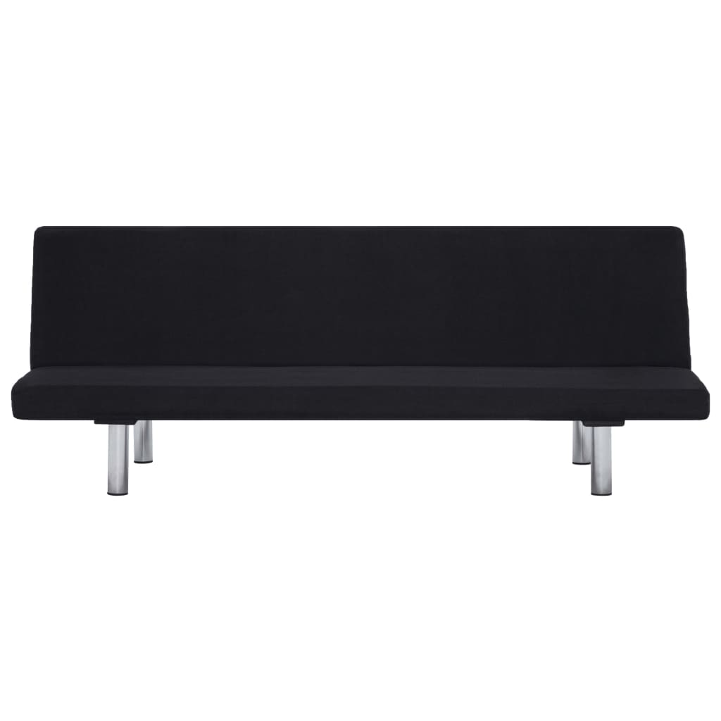 Sofa Bed Black Polyester 6