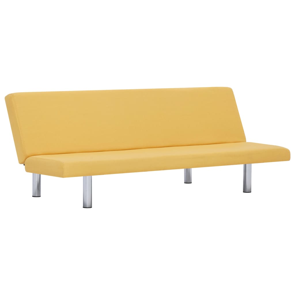 Sofa Bed Yellow Polyester 2