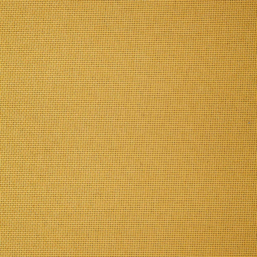 Sofa Bed Yellow Polyester 4