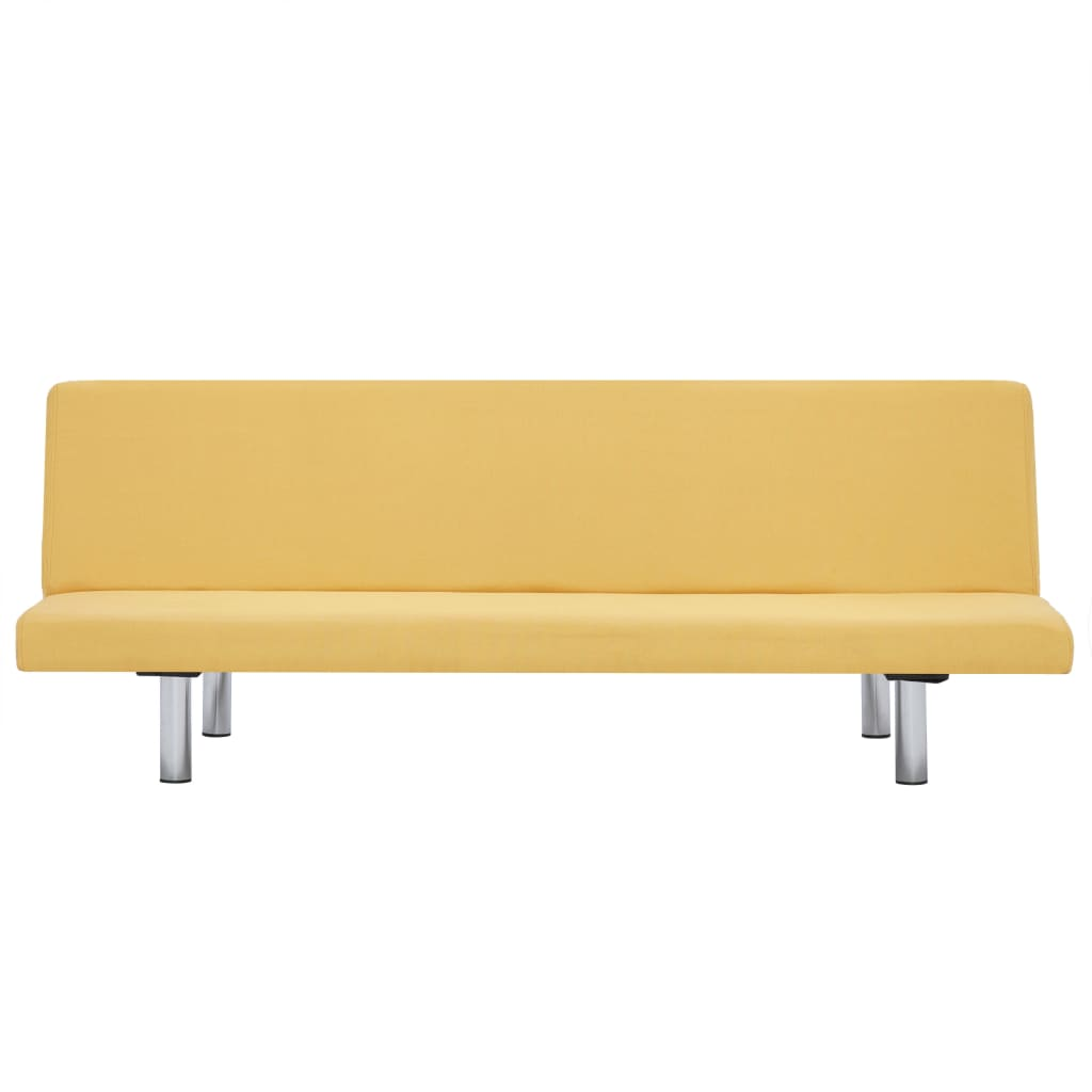 Sofa Bed Yellow Polyester 6