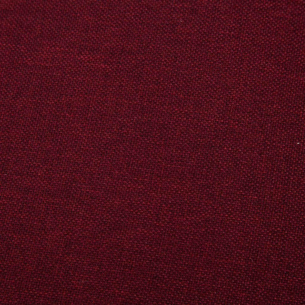 Sofa Bed Wine Red Polyester 4