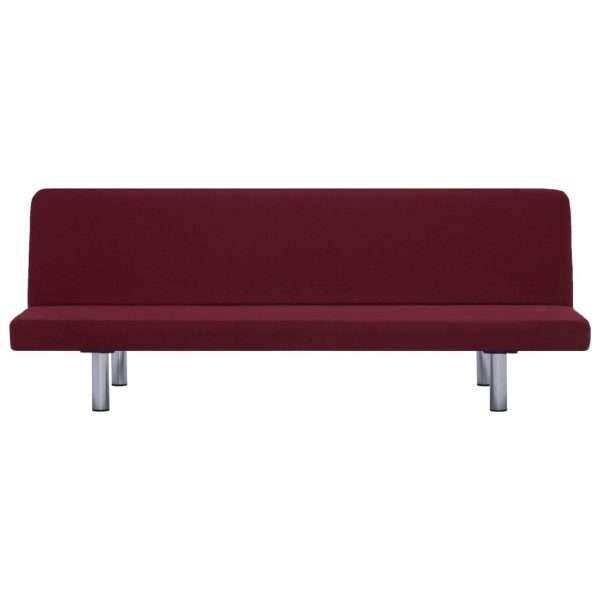 Sofa Bed Wine Red Polyester 6