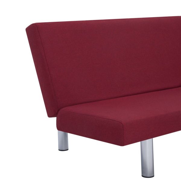 Sofa Bed Wine Red Polyester 8