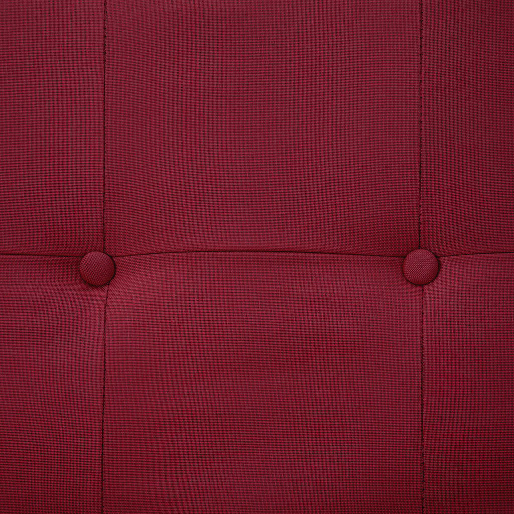 Sofa Bed with Armrest Wine Red Polyester 4