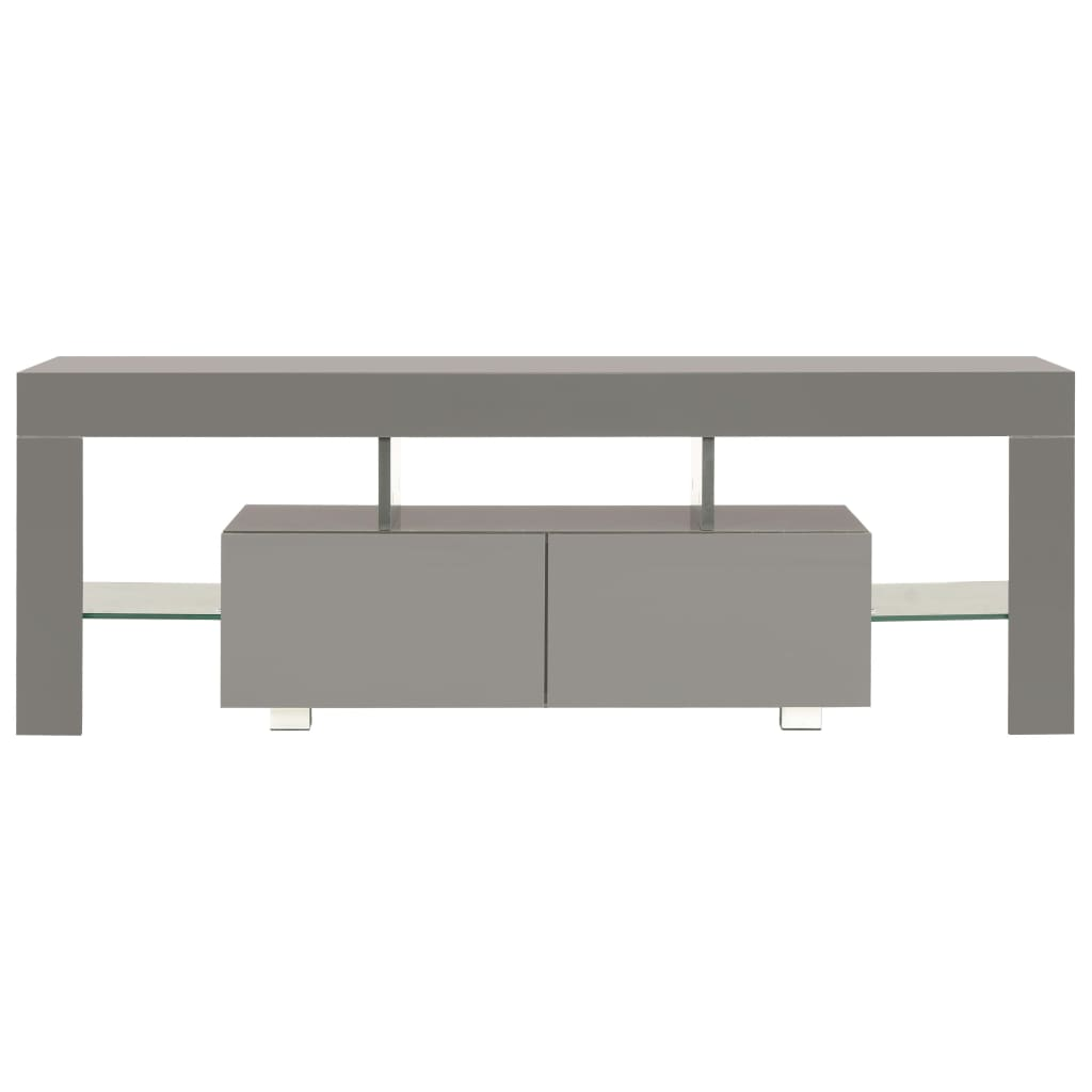 TV Cabinet with LED Lights High Gloss Grey 130x35x45 cm 6