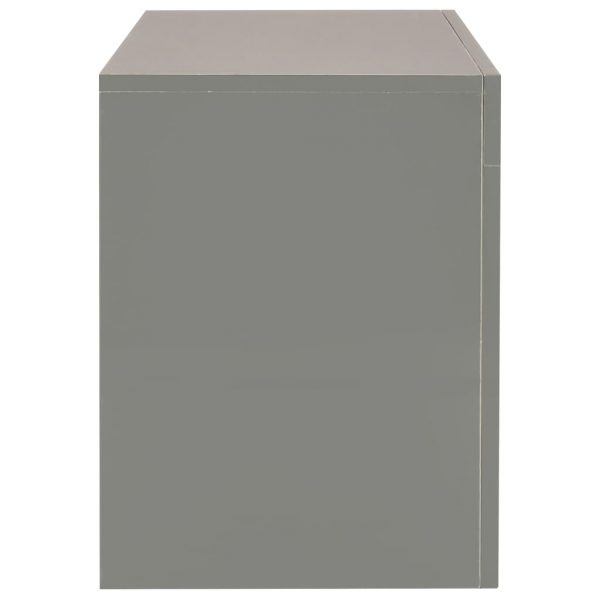 TV Cabinet with LED Lights High Gloss Grey 130x35x45 cm 9