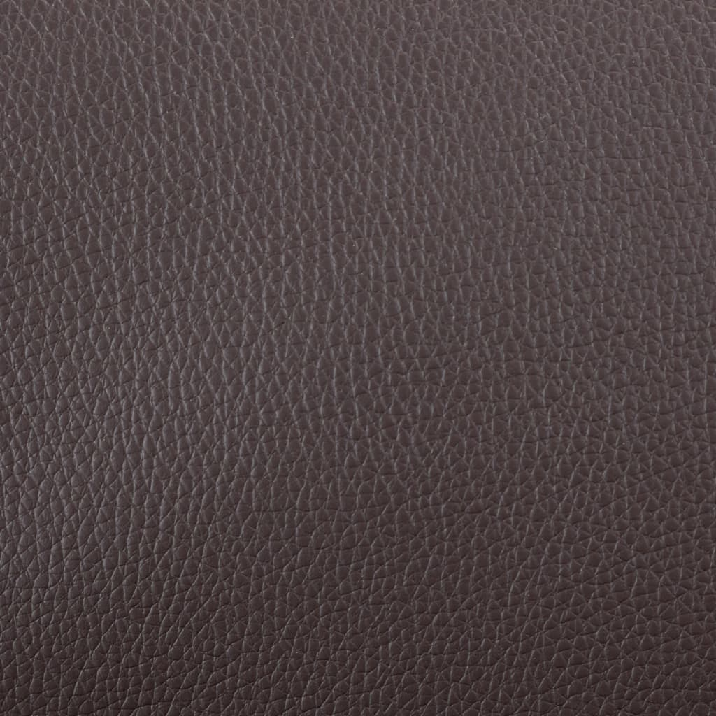 TV Armchair Brown Faux Leather 3