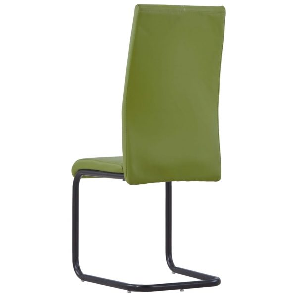 Dining Chairs 4 pcs Green Faux Leather 5