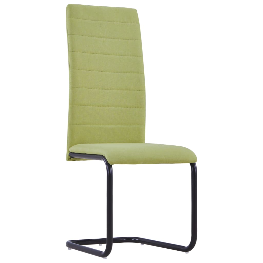 Dining Chairs 2 pcs Green Fabric 2