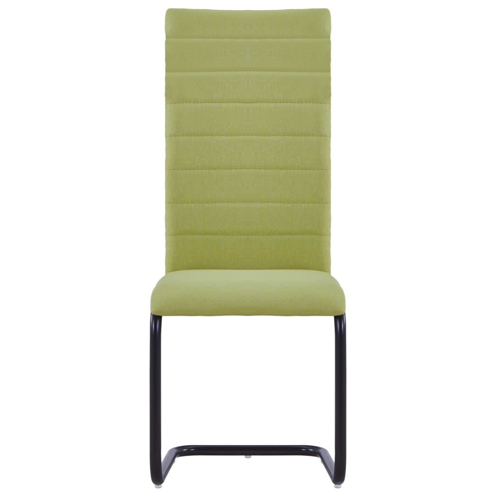 Dining Chairs 2 pcs Green Fabric 3