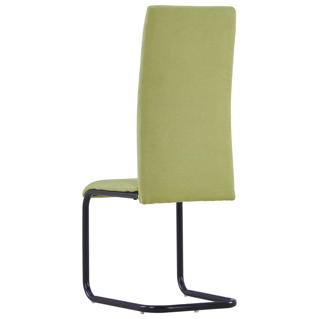 Dining Chairs 2 pcs Green Fabric 5