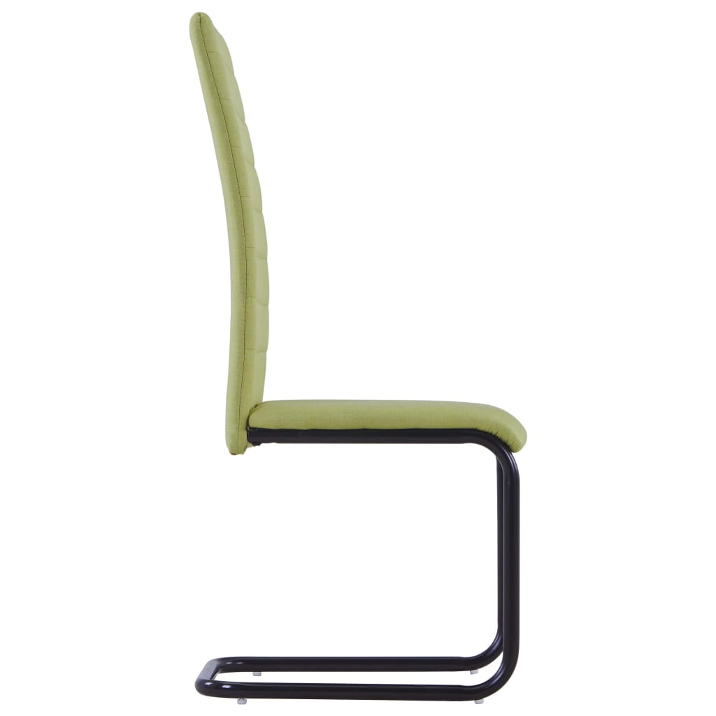 Dining Chairs 4 pcs Green Fabric 4