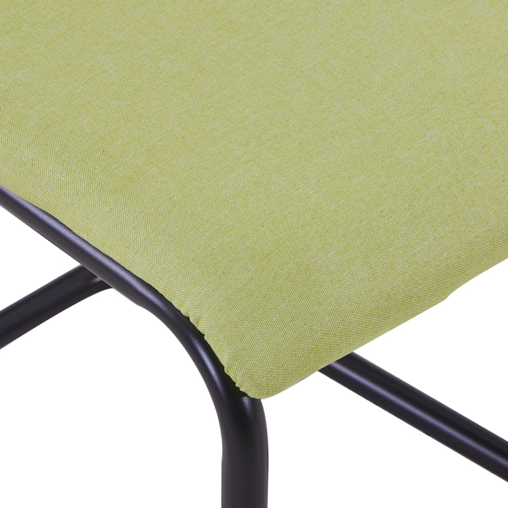 Dining Chairs 4 pcs Green Fabric 6