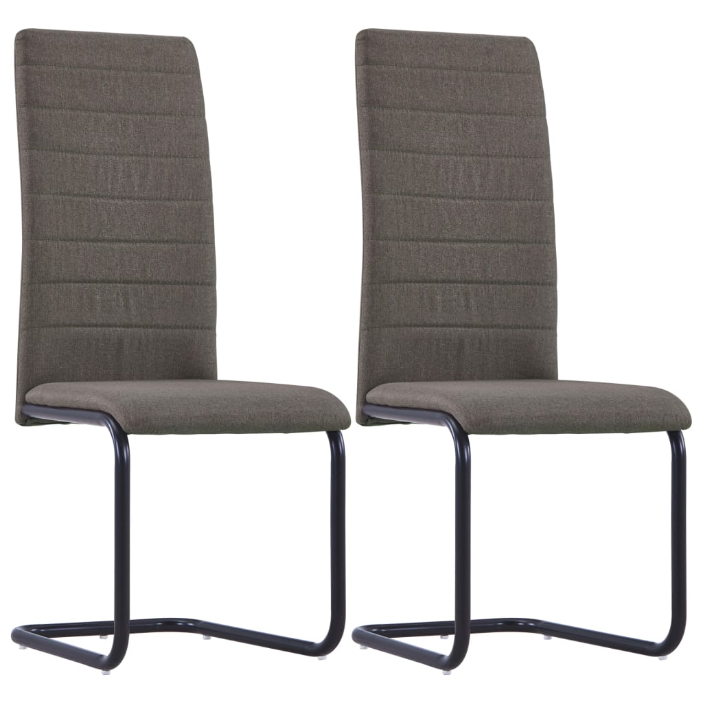 Dining Chairs 2 pcs Taupe Fabric 1