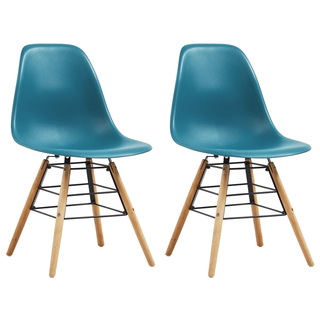 Dining Chairs 2 pcs Turquoise Plastic 1