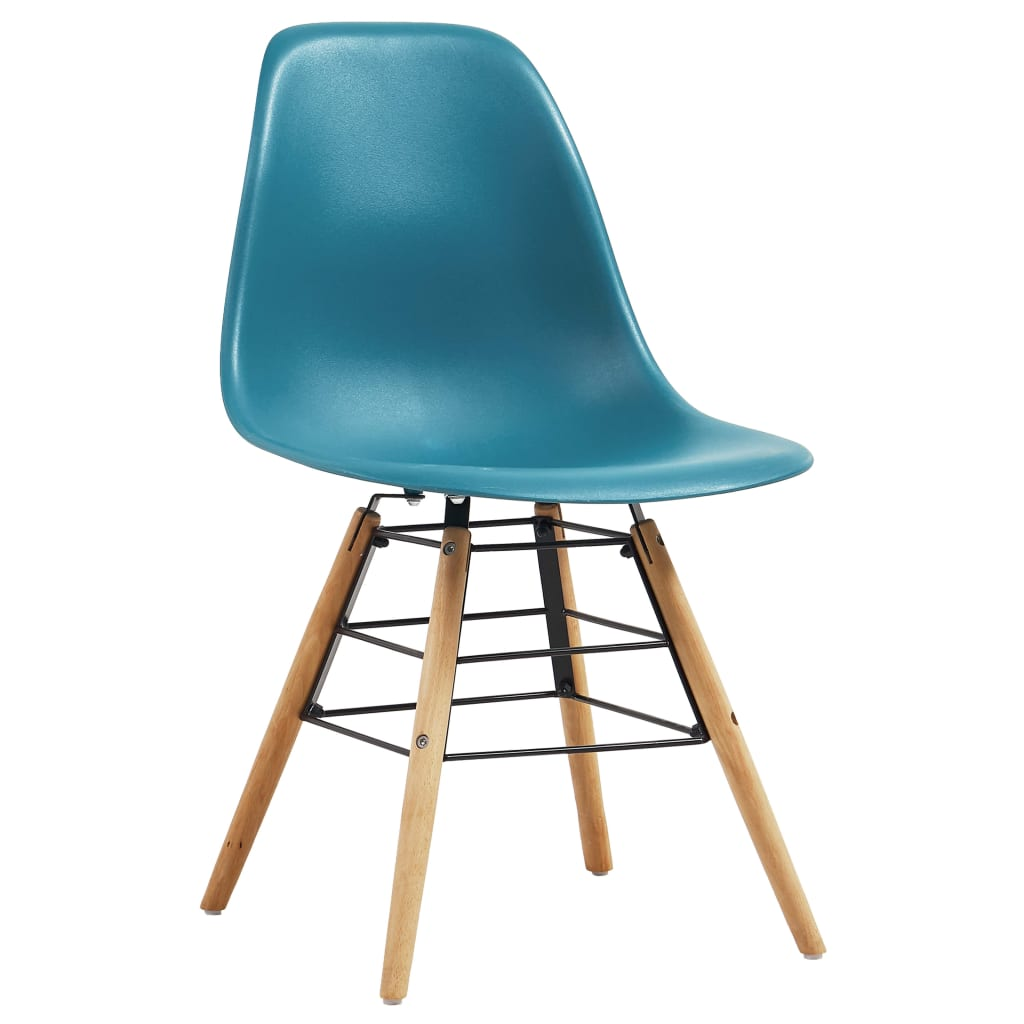 Dining Chairs 2 pcs Turquoise Plastic 2