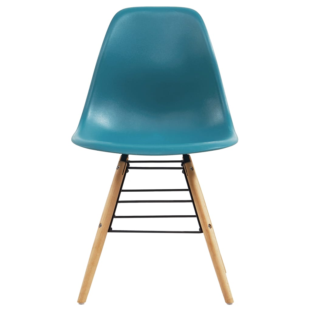 Dining Chairs 2 pcs Turquoise Plastic 3