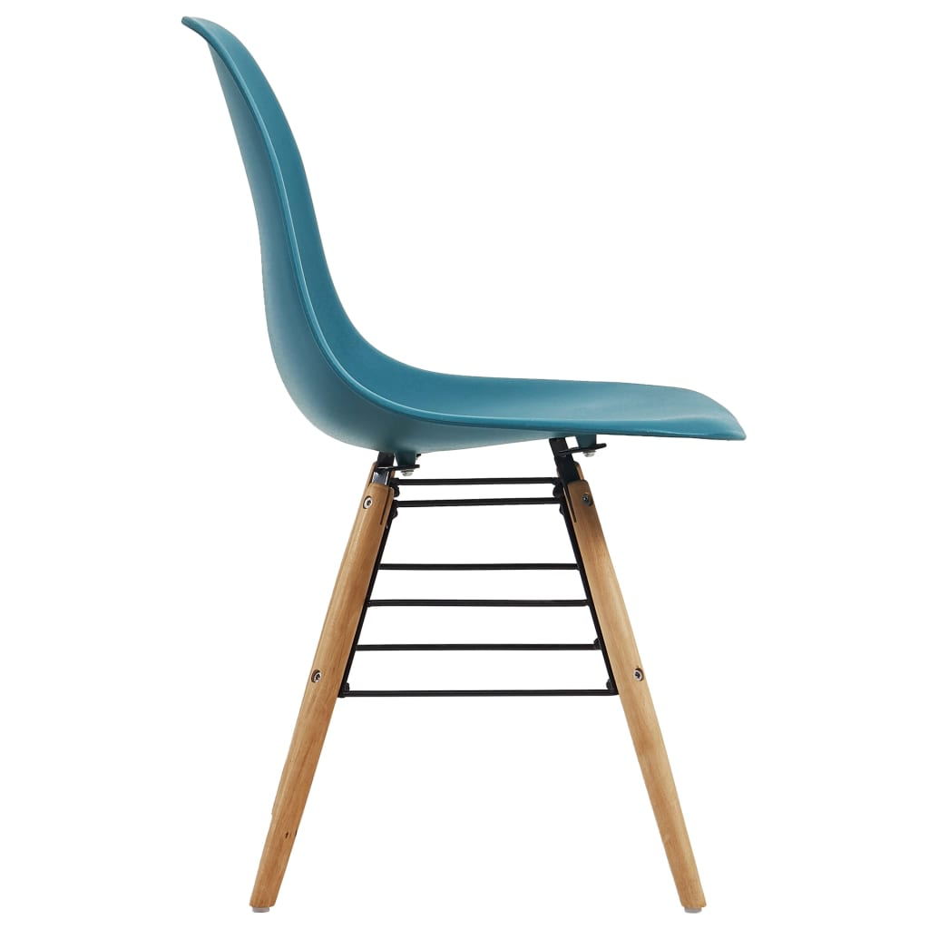 Dining Chairs 2 pcs Turquoise Plastic 4