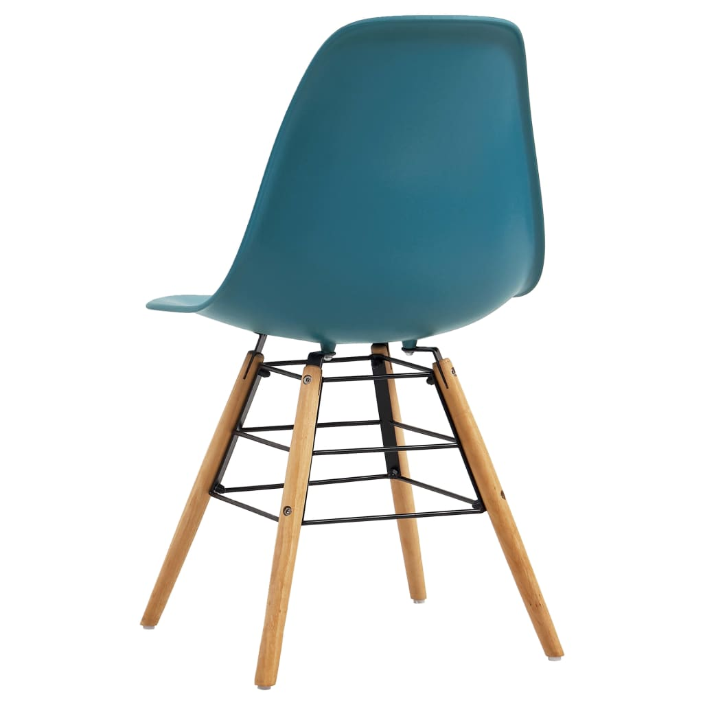 Dining Chairs 2 pcs Turquoise Plastic 5