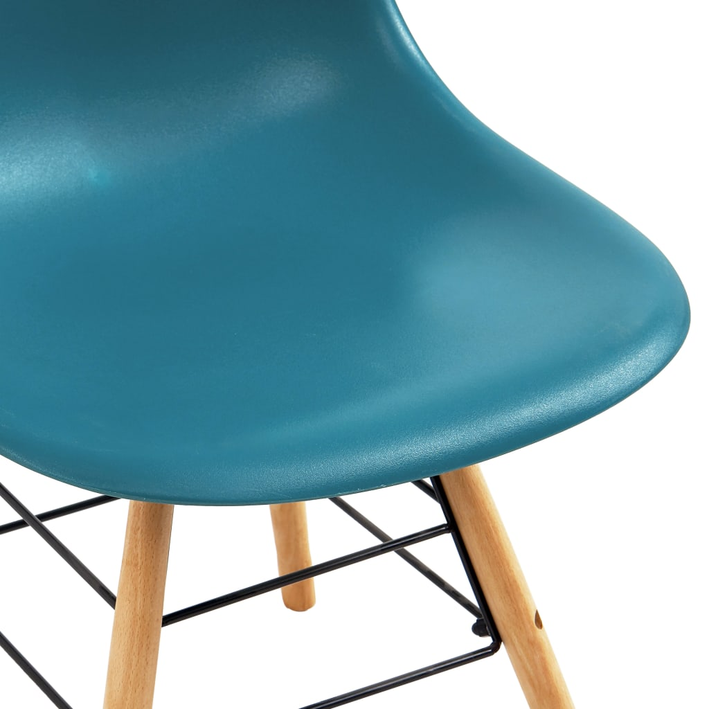Dining Chairs 2 pcs Turquoise Plastic 6