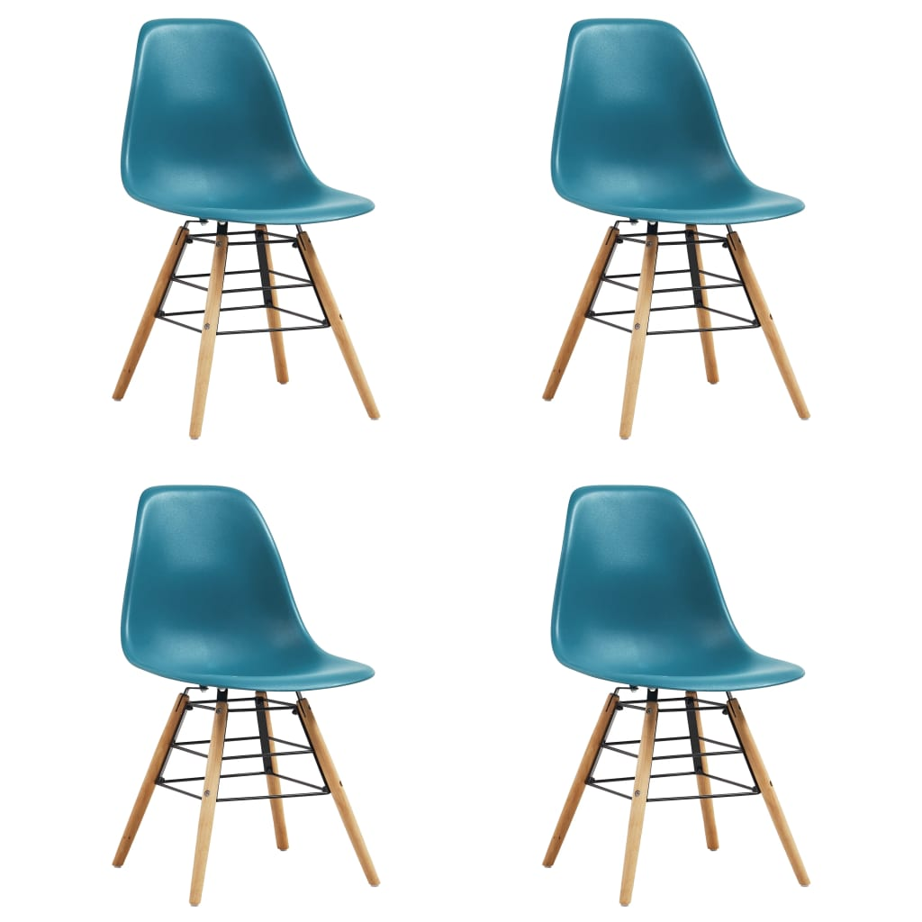 Dining Chairs 4 pcs Turquoise Plastic 1