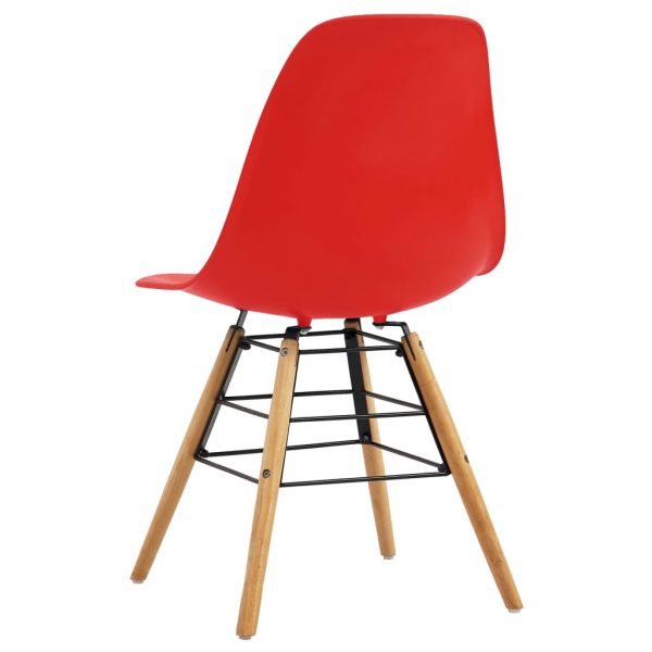 Dining Chairs 2 pcs Red Plastic 5