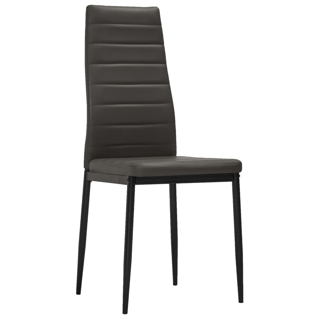 Dining Chairs 2 pcs Grey Faux Leather 2