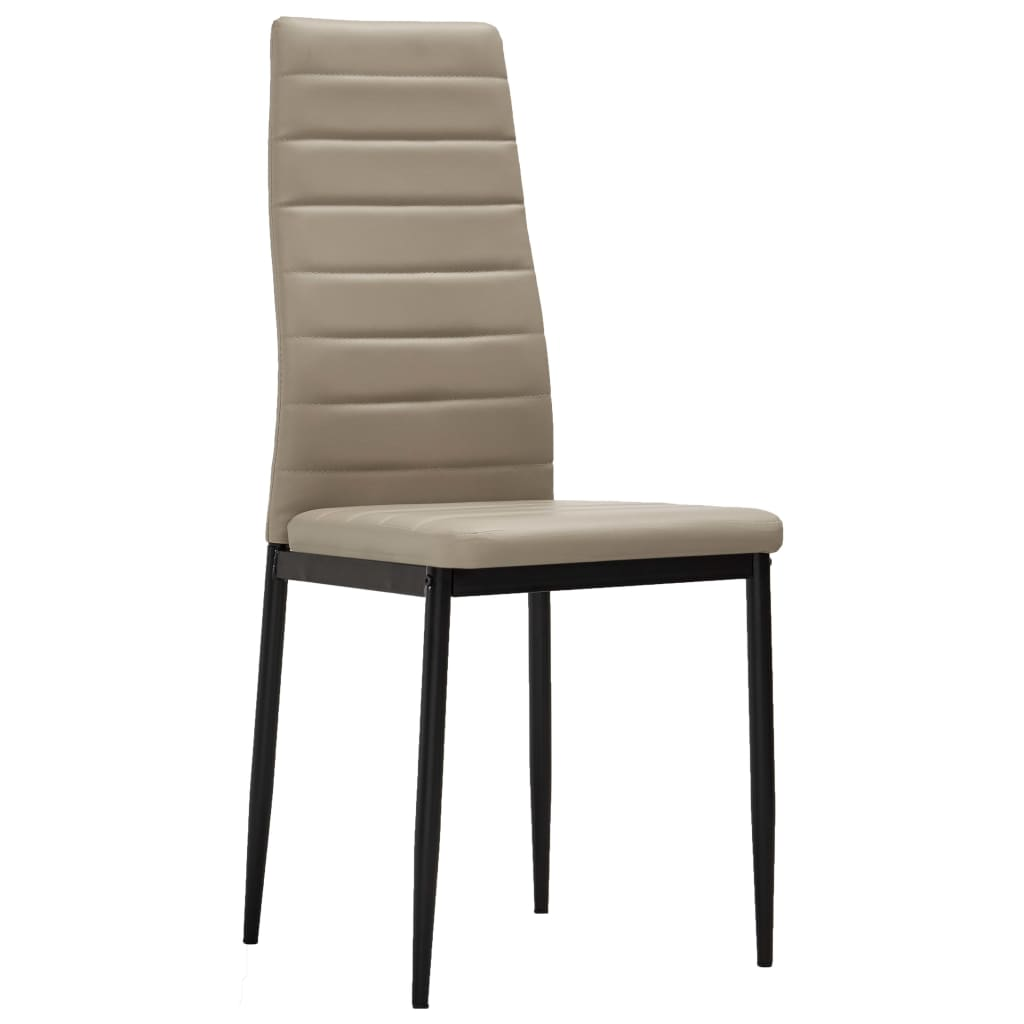 Dining Chairs 2 pcs Cappuccino Faux Leather 2
