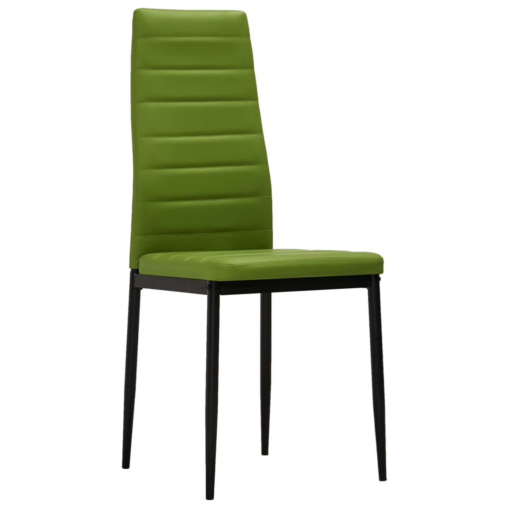 Dining Chairs 2 pcs Lime Green Faux Leather 2