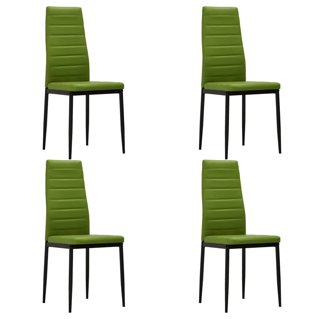 Dining Chairs 4 pcs Lime Green Faux Leather