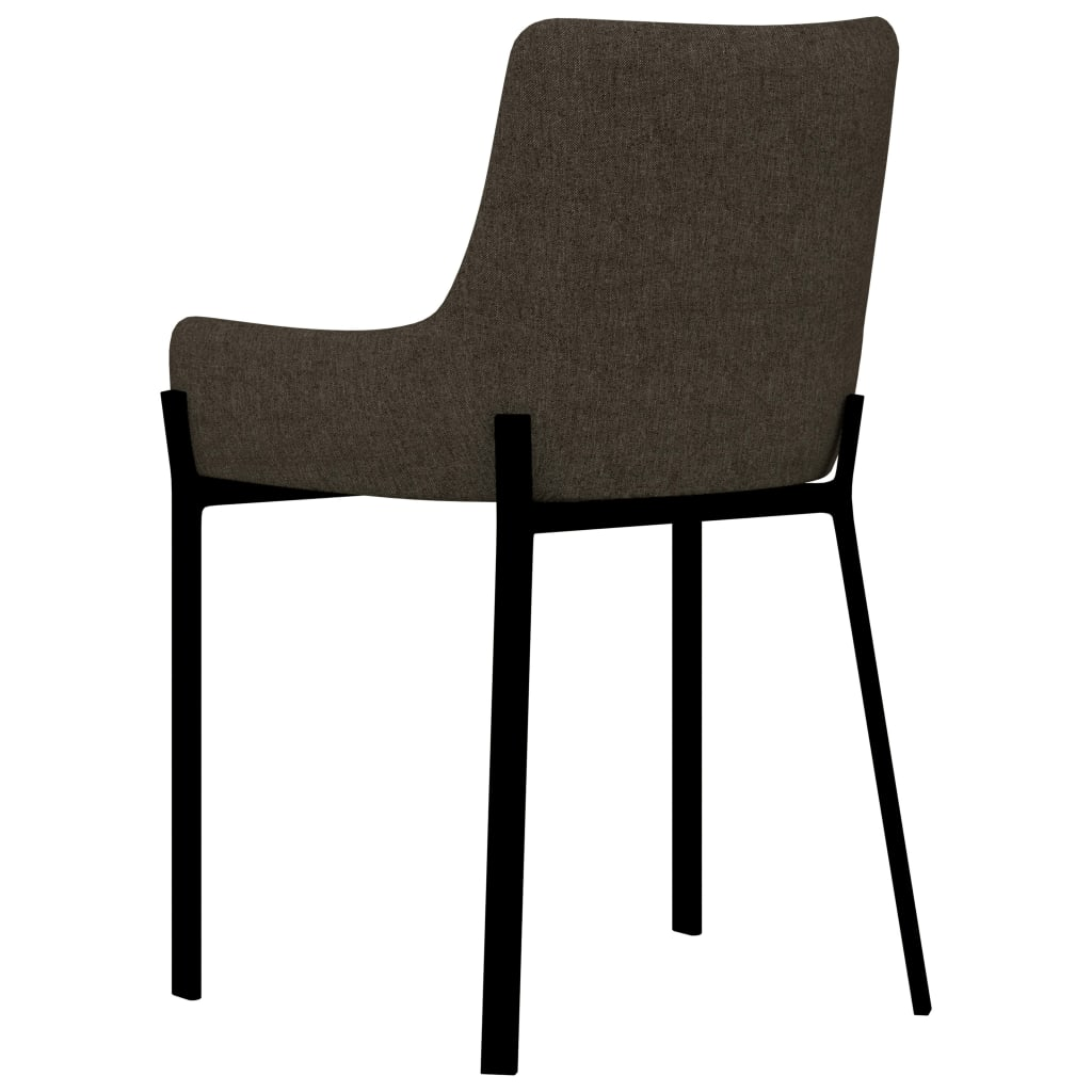 Dining Chairs 2 pcs Brown Fabric 5