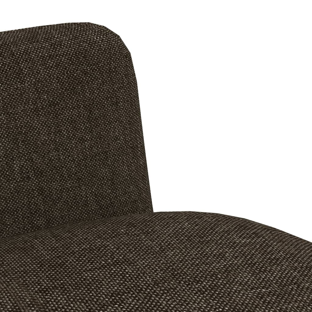 Dining Chairs 2 pcs Brown Fabric 6