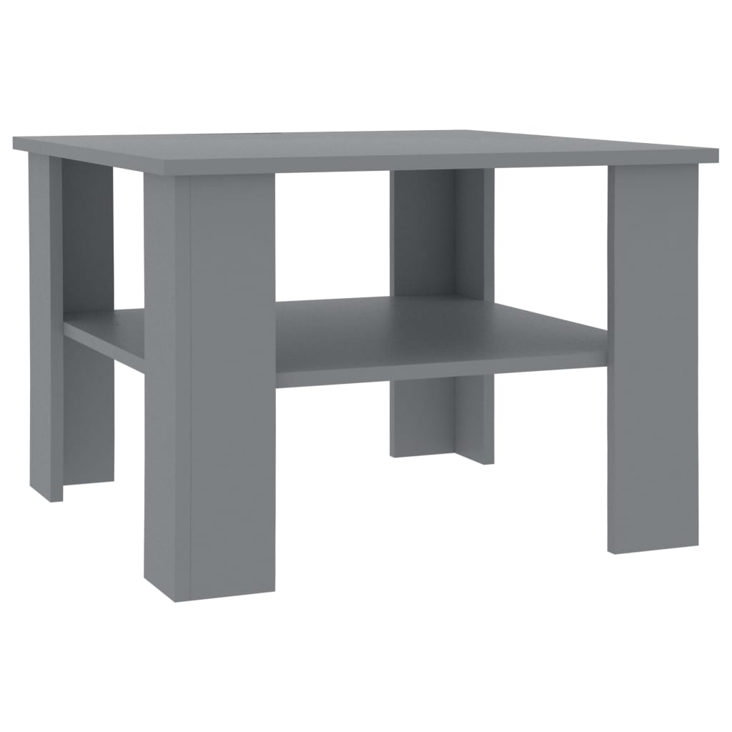 Coffee Table Grey 60x60x42 cm Chipboard 2