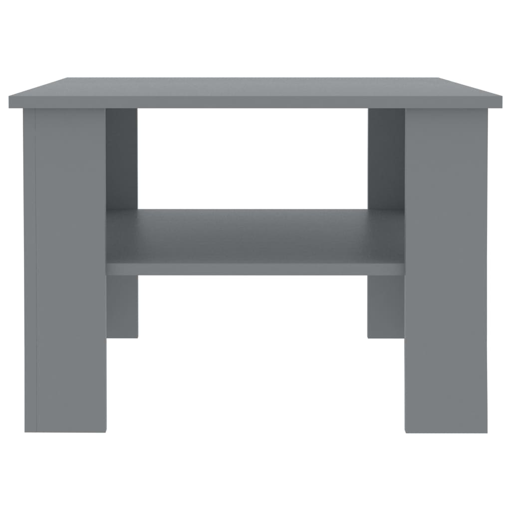 Coffee Table Grey 60x60x42 cm Chipboard 4