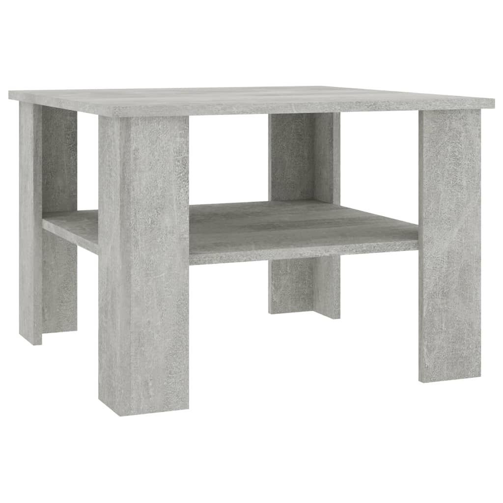 Coffee Table Concrete Grey 60x60x42 cm Chipboard 2