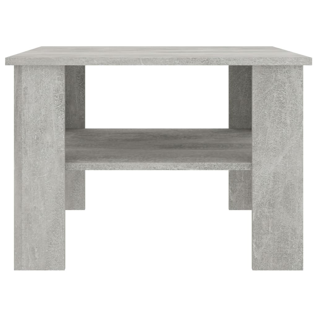 Coffee Table Concrete Grey 60x60x42 cm Chipboard 4