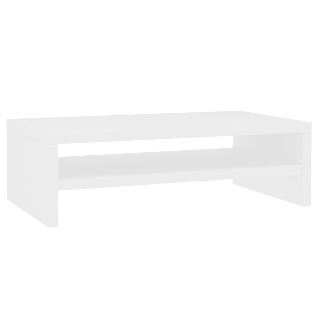 Monitor Stand White 42x24x13 cm Chipboard 2