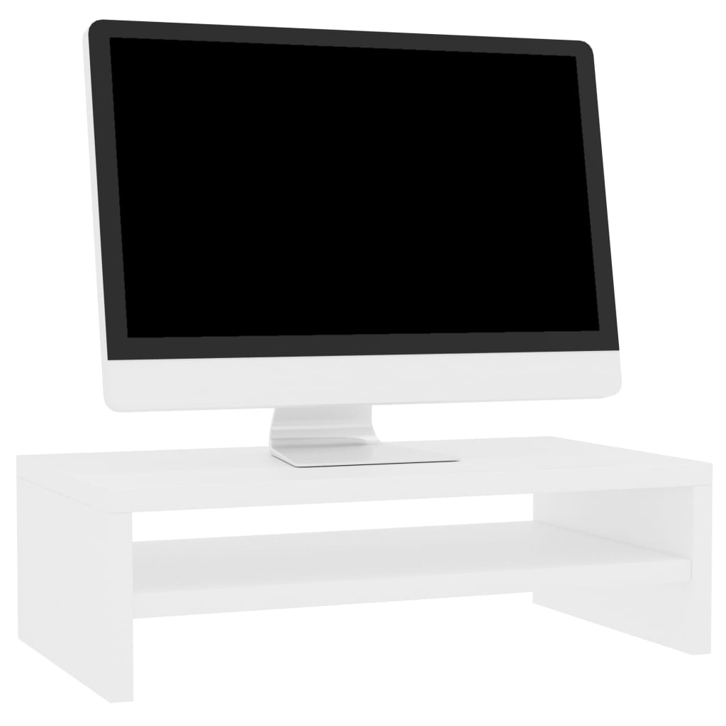 Monitor Stand White 42x24x13 cm Chipboard 3