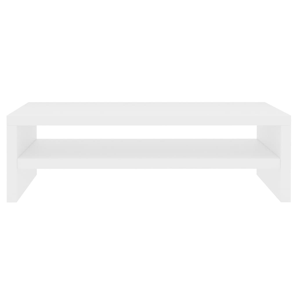 Monitor Stand White 42x24x13 cm Chipboard 4